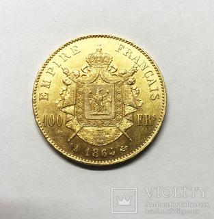 100 франков 1864 года.