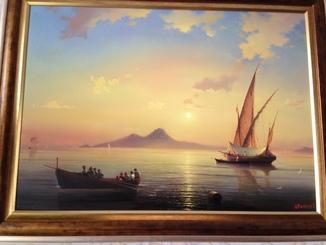 Картина «По мотивам морских пейзажей Айвазовского» Виталия Цветкова
