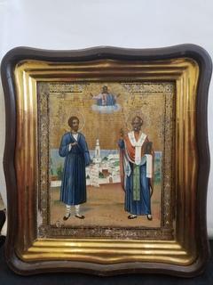 Икона святых Николая Чудотворца и Симеона Верхотурского