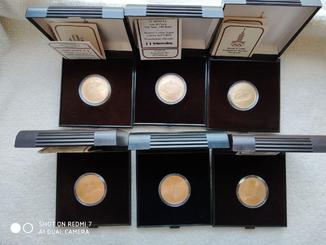 100 Рублей. Олимпиада 1980. Золото 6 Монет Proof