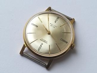 Часы Poljot de luxe 23 jewels made in USSR . Полет плоский Au20