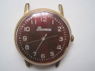 Часы Восток плоские Ау 20