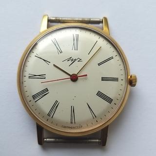 Часы Луч плоский 23камня.позолота Au10