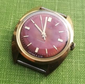 Часы Восток позолота Au10