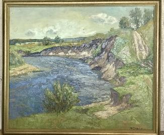 Народный художник Украины Ю. Зорко «Поворот реки»
