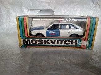 Масштабная модель москвич 2141 гаи с коробкой