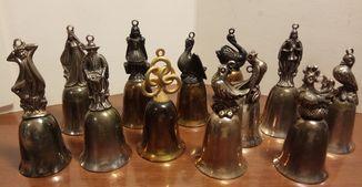 Серия коллекция колокольчики 12 дней Рождества 1977 год металл елочные игрушки