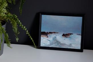 Зимний пейзаж в раме.