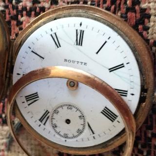 Старинные золотые швейцарские часы Boutte корона белочка
