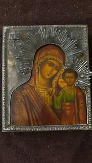 Пресвятая Божаматір Казанская у сріблі