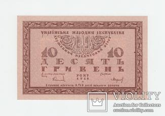 УНР 10 гривен 1918. Серия В. UNC.  RRR