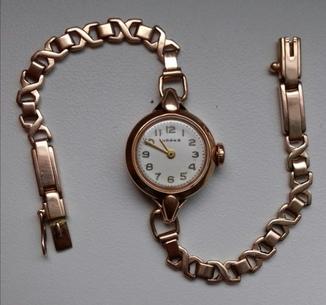 Золотые часы Чайка 583 проба 13.3грм