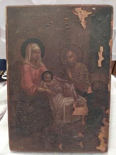 Старая Икона ''Рождество Христово'' под реставрацию.