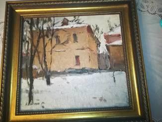 Платонов А.Г. (1927-2001). Заслуженный и народный художник Украины. Зимка. 1989г.