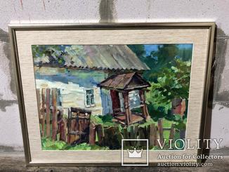 Картина Старый домик, Седнев - Калюжная Анастасия, 55х43