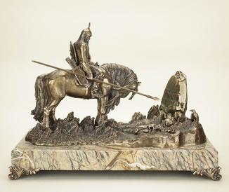 Воин на коне, бронза