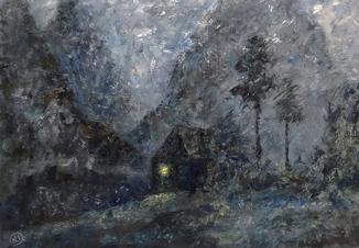 """Картина """"Вечір в горах"""""""