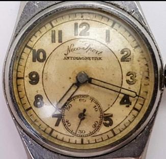 Часы Neco-Sport. Германия(?) 40-е годы, нержавейка