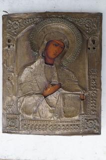 Икона Богородица со святыми Катерина Анна Ольга оклад