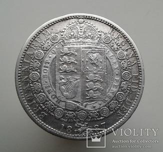 Великобритания 1/2 кроны 1887г.