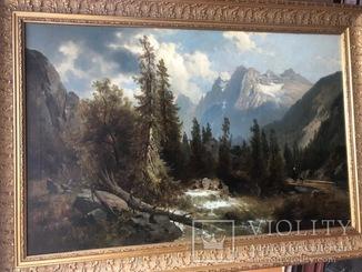 """"""" Альпійський пейзаж """",  Joseph Thoma (1828 - 1899)."""