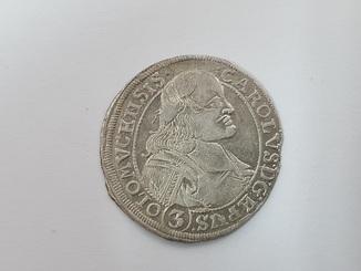 3 крейцера 1695 SAS Лихтенштейн-Кастелькорн (Епископство Оломоуц) Карл I №4