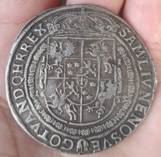 Владислав 4 Ваза 1635 год серебро 28 грамм