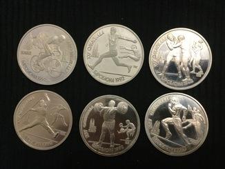 Набор монет олимпиада  Барселона 6 штук