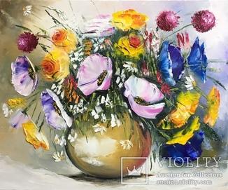 Картина «Очаровательный букет» масло 50х60 см