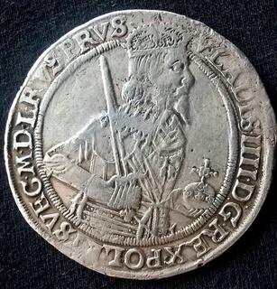 Талер Wladyslaw IV 1637г. (Город Торунь). Степень редкости R-3 (VFIII