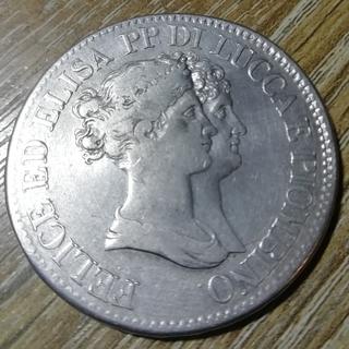 Лукка и Пьомбино 5 франчи 1808 г.