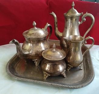 Кофейно - чайный набор  серебрение  50 х. Европа Pioner E.P.N.S