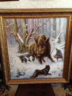 Картина «Охота на кабана»