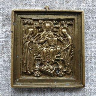 Икона Деисус с предстоящими, Богородицей и Иоанном Предтечей. Россия 19 в.