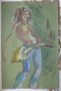 Психоделический Гитарист 32Х50 см