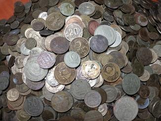 10 кг монет СССР до реформи і після.