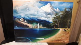 "Картина маслом""Синее озеро"""