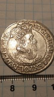 Орт 1621 Сигизмунд 3 Ваза .Гданськ