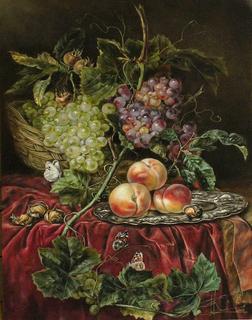 ''Виноград и персики''. Копия.