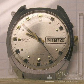 Часы Слава 27 камней двойной календарь на хорошем ходу