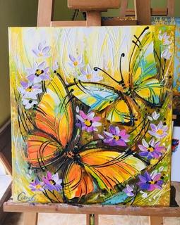 Картина «Бабочки» 50х45