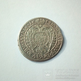 15 крейцеров 1664 г. Штирия, Леопольд
