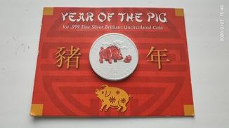 5 долларов Соломоновы острова, год свиньи