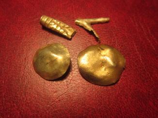 Скифское золото, вес - 2,6 грамм.