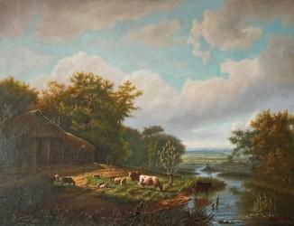 """Картина """"Голландия. Дом в лесу"""""""
