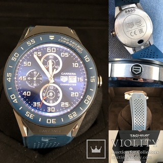 TAG Heuer Connected Modular 45 Blue Rubber with Blue Mat Ceramic Bezel