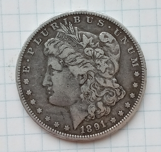 1 доллар Моргана США 1891 год