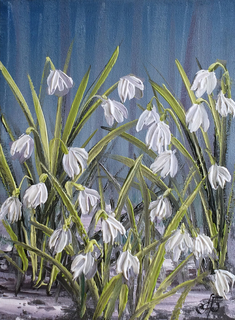 Картина Благоухание весны, 15х20 см. Живопись на холсте