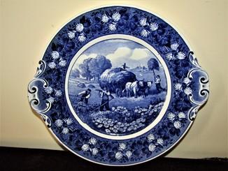 Блюдо с ручками фарфор клеймо Villeroy & Boch 1900 - Dresden 6326