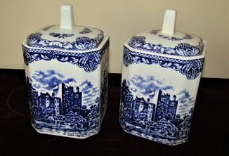 Баночки для хранения Кофе и Сахара клеймо Old british castles blue Англия